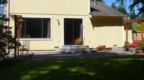 Alternative to concrete patio