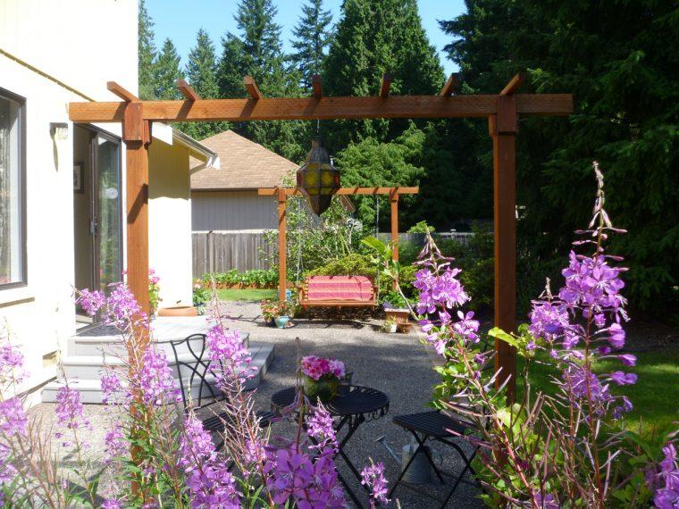 Concrete alternative patio