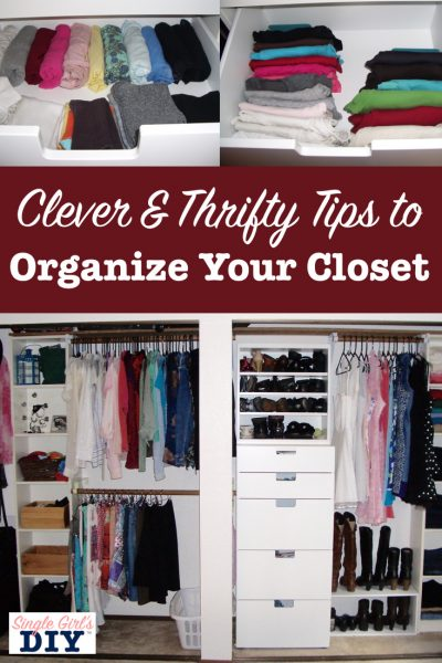 Thrifty closet organizing you can do in a weekend single for How do you organize your closet