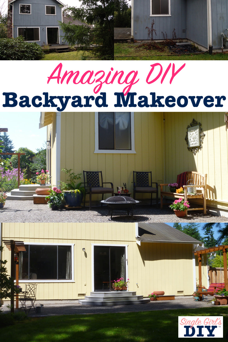Beautiful and Affordable DIY Backyard Makeover | Single ...