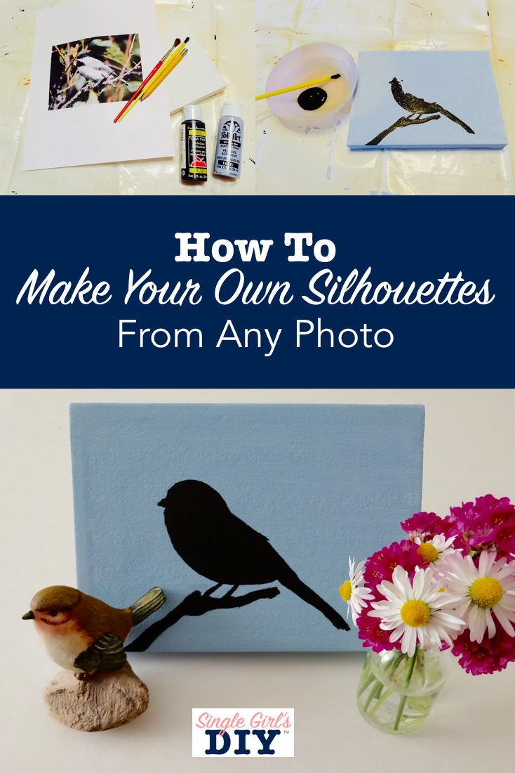 How to make diy silhouettes