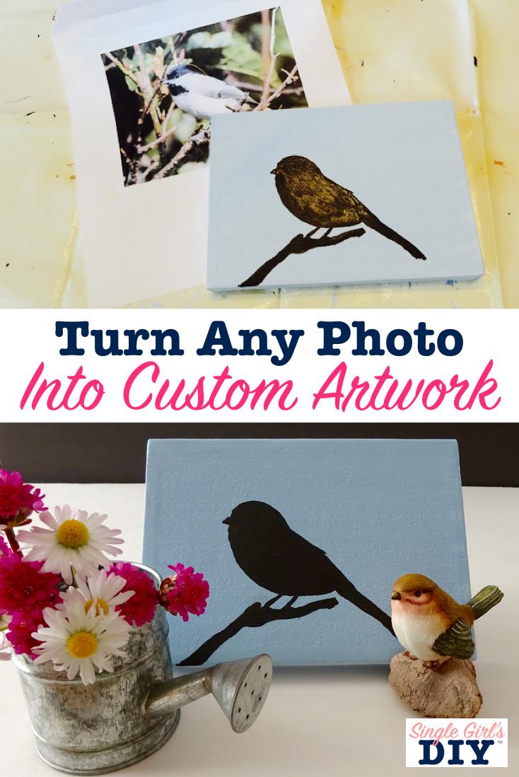 Turn any photo into custom artwork
