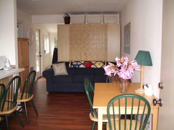 Studio apartment living area