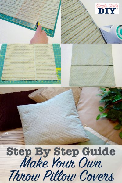 sewing throw pillow covers