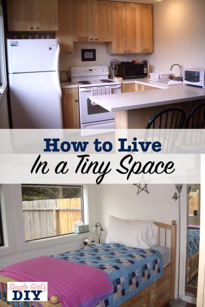 studio apartment bedroom and kitchen
