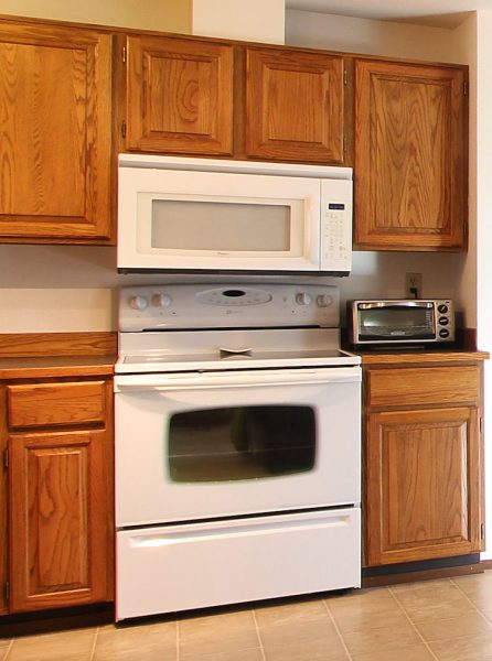 Wall mounted microwave