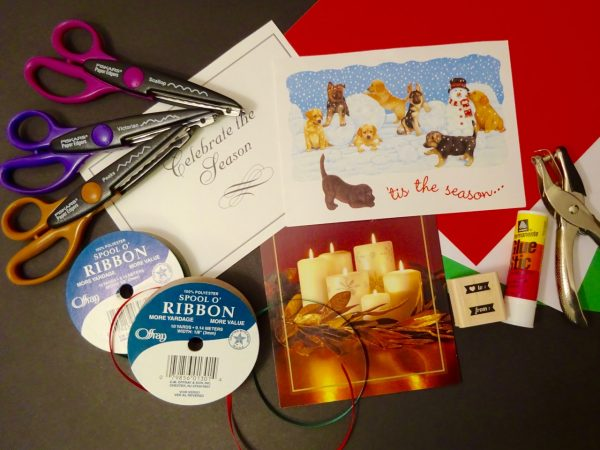 Supplies to make your own gift tags