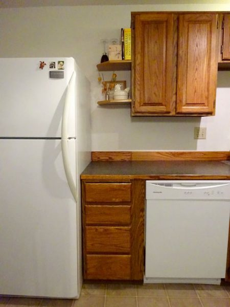 Reusing kitchen cabinets