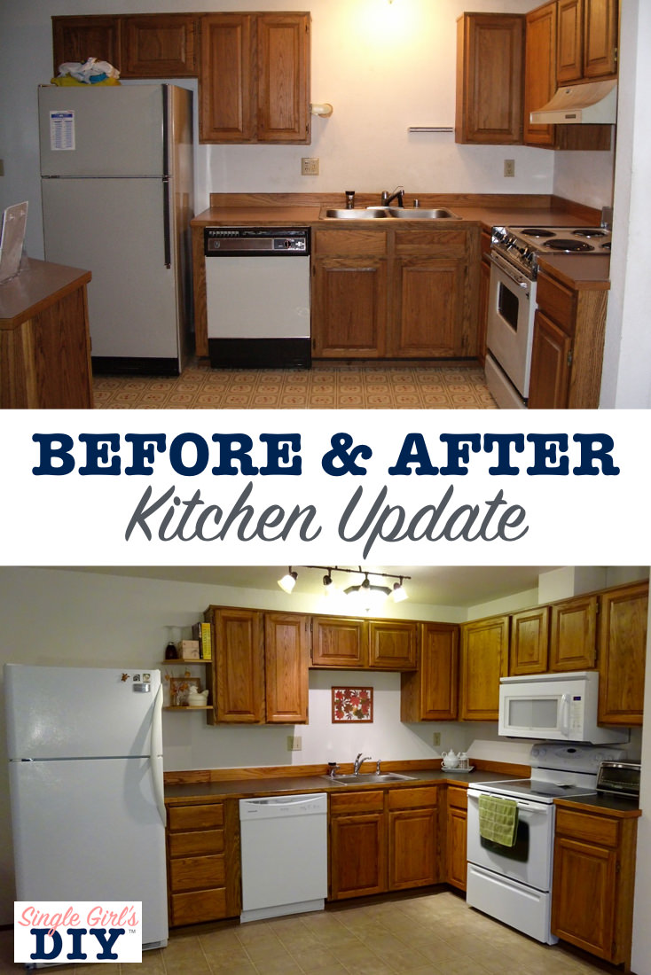 Before and after kitchen update