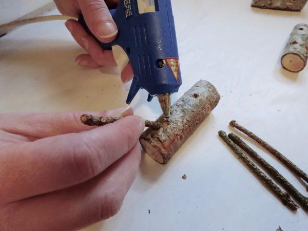 Make reindeer from sticks.
