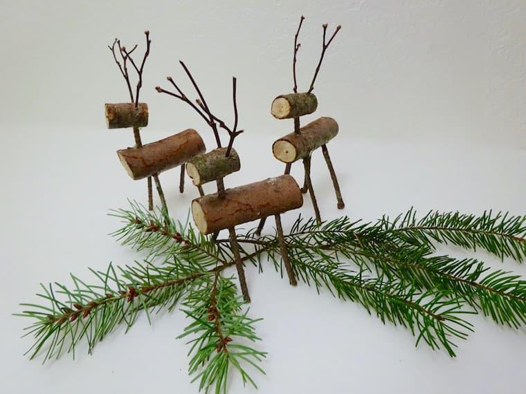 Make reindeer out of sticks