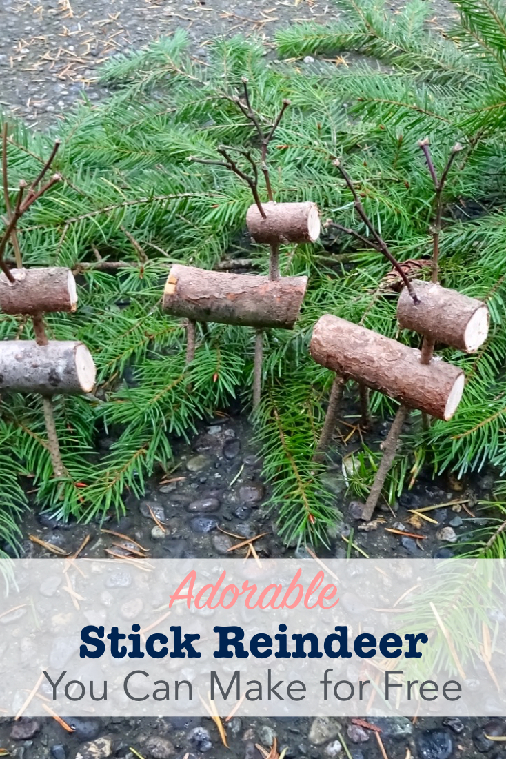 Adorable stick reindeer you can make for free