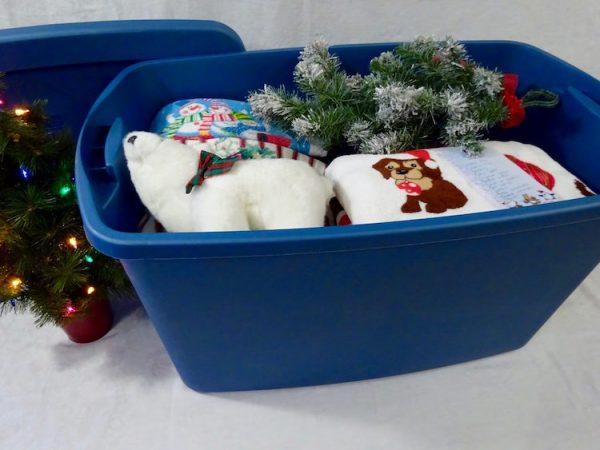 Storage bins for Christmas decorations