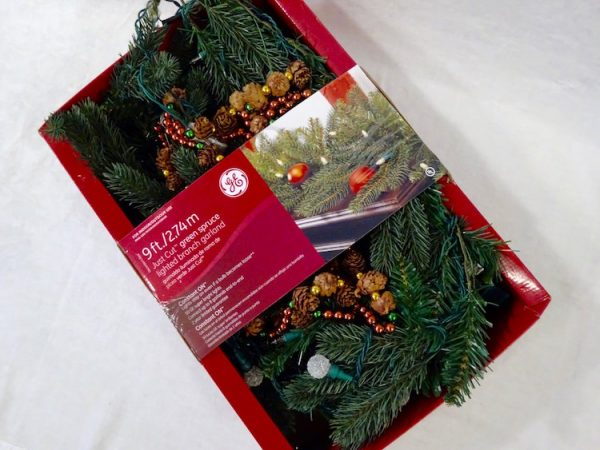 Store Christmas decorations in original packaging