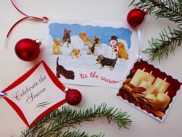 DIY Christmas gift tags from cards
