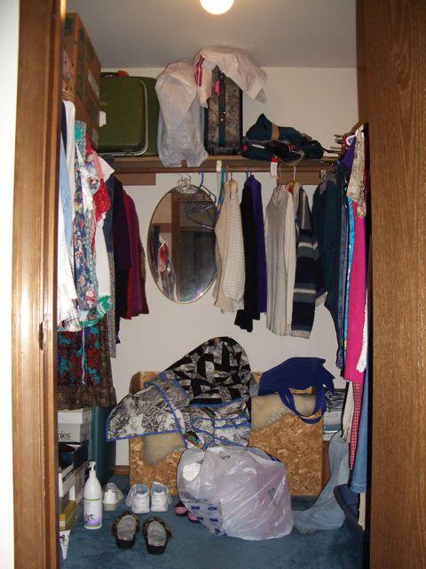 Walk in closet makeover
