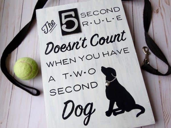 Make this adorable diy dog sign for your kitchen