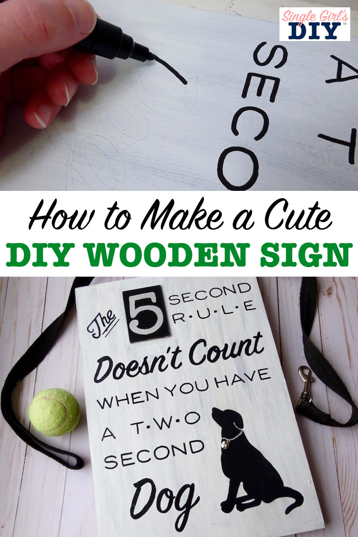 How to make a cute diy wooden sign