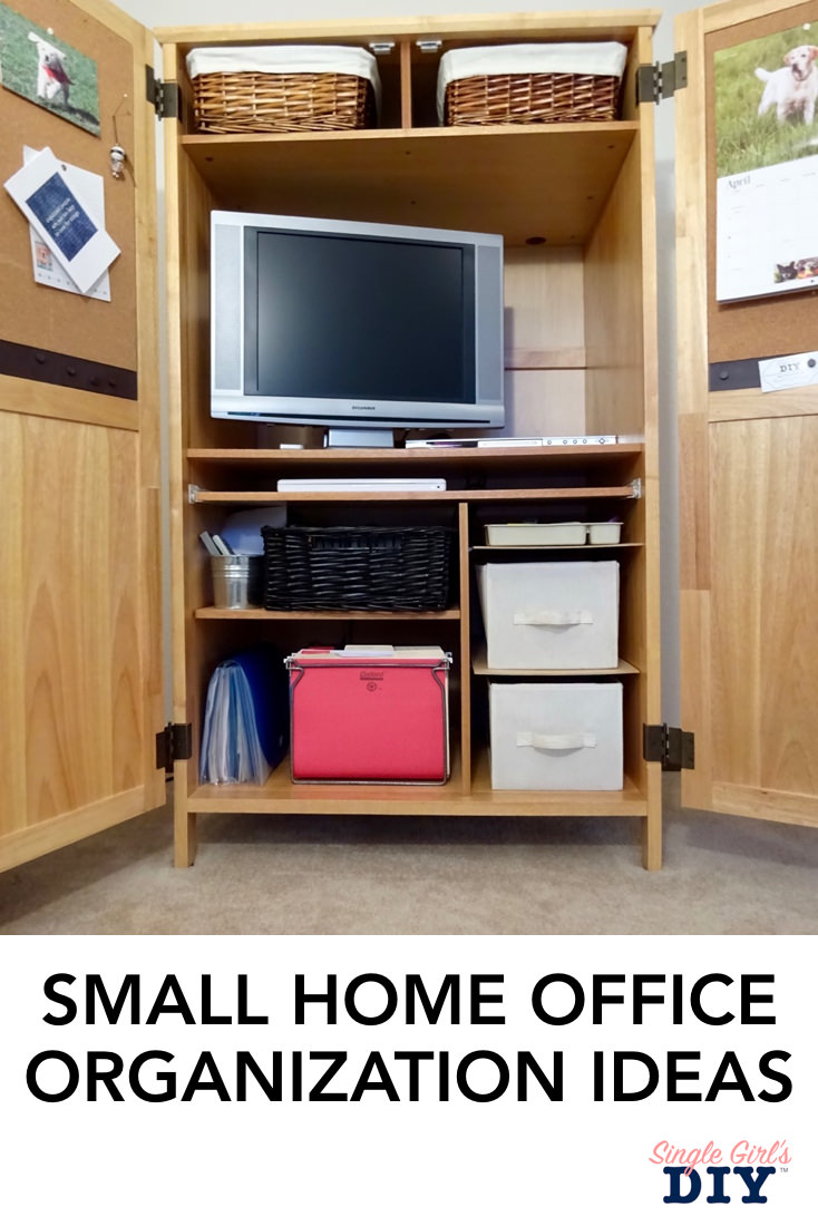 Small Home Office Organization Ideas Single Girl 39 S Diy