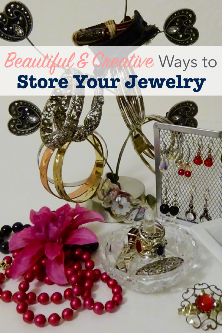 Beautiful and creative ways to store your jewelry single for Clever ways to store jewelry
