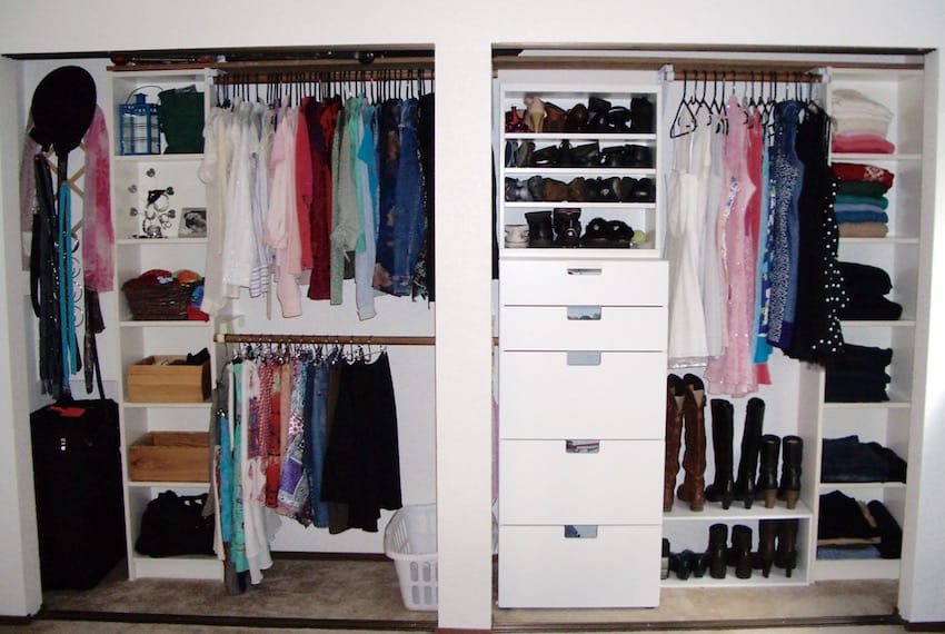 thrifty closet organizing you can do in a weekend  single