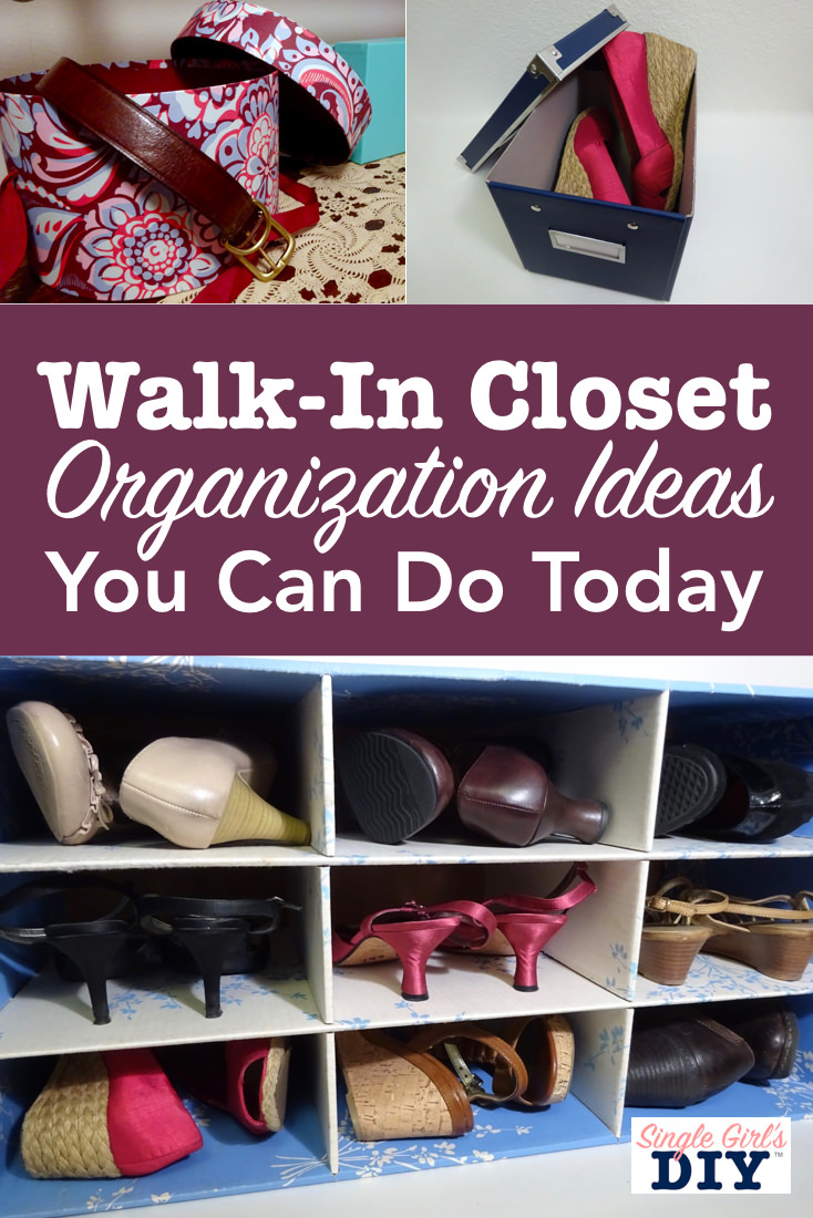 Walk in closet organization ideas