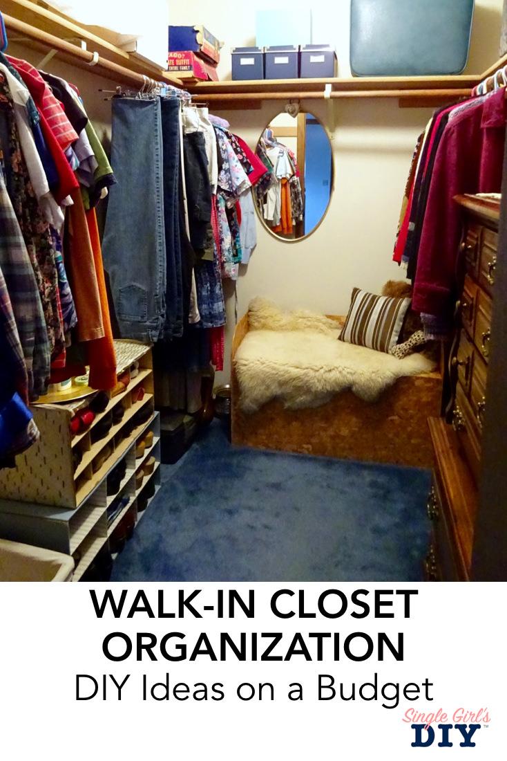 Easy walk in closet organization ideas you can do today for Organized walk in closet
