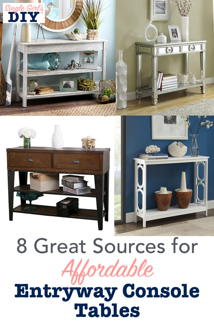 Affordable entryway console tables