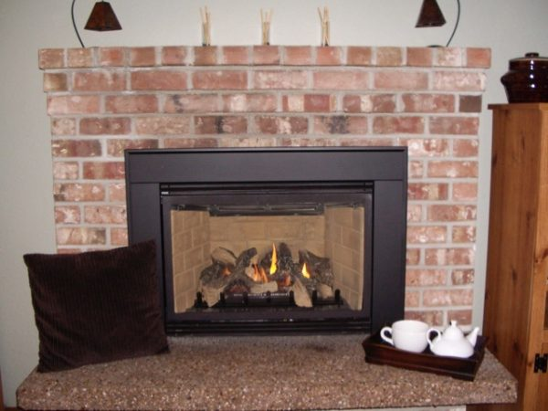 Ugly fireplace hearth makeover