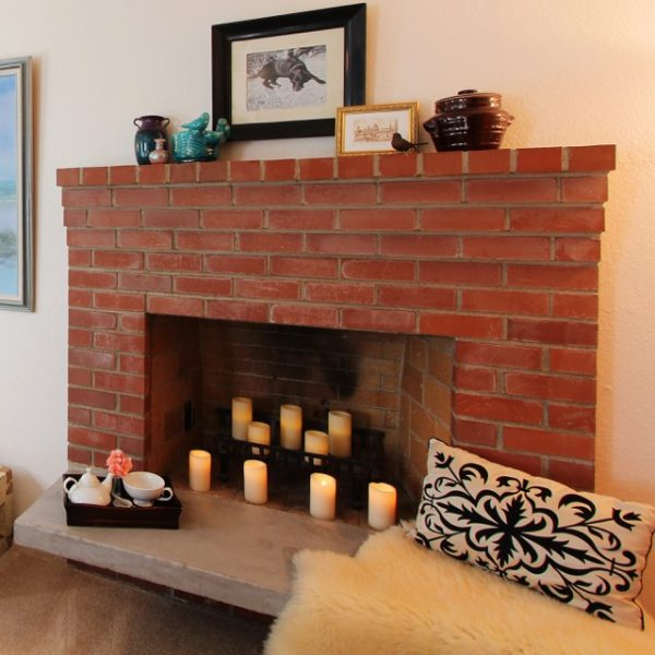 DIY fireplace hearth makeover