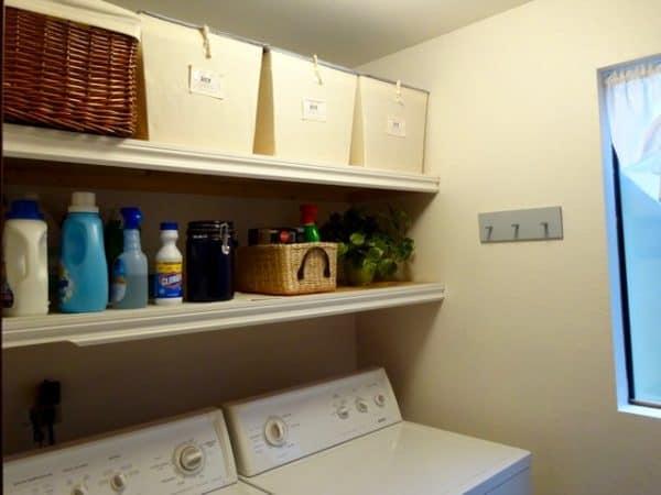 Laundry room pegs