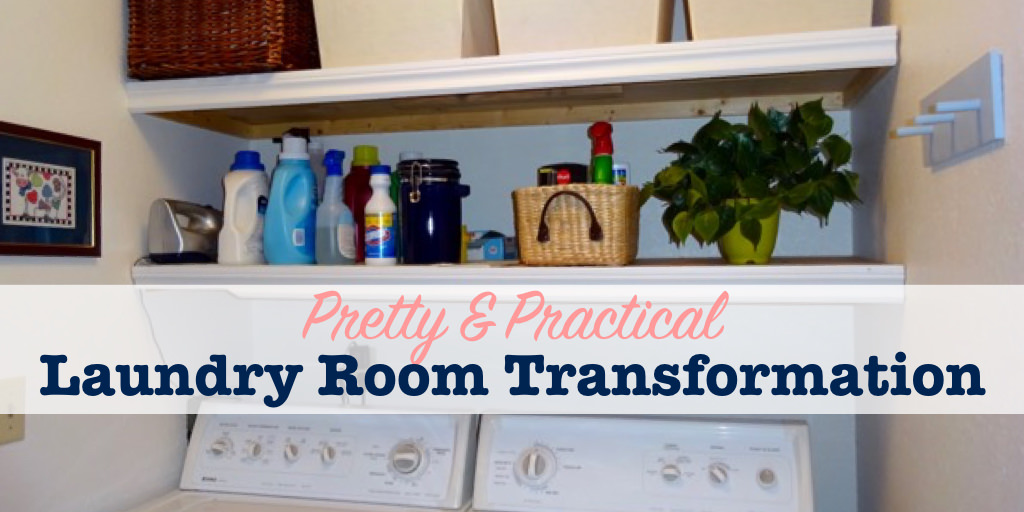 Pretty and practical laundry room transformation