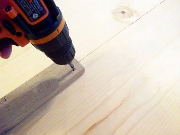 drilling in cut furring strip