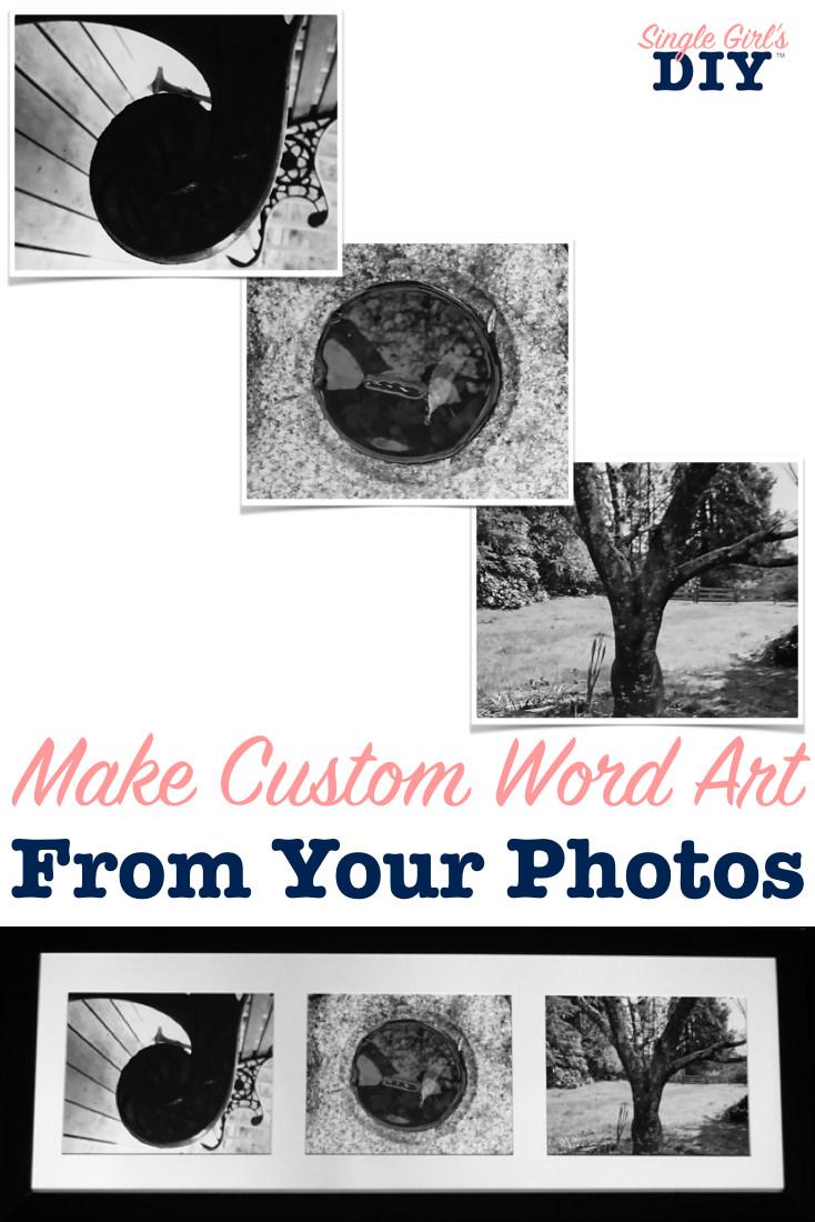 Custom photo word art