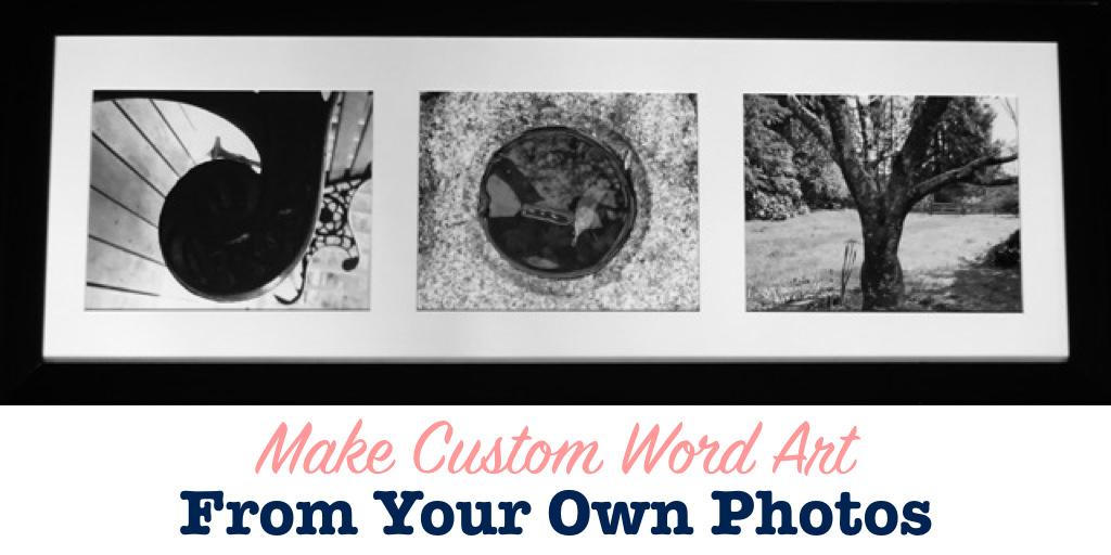 Photo word art