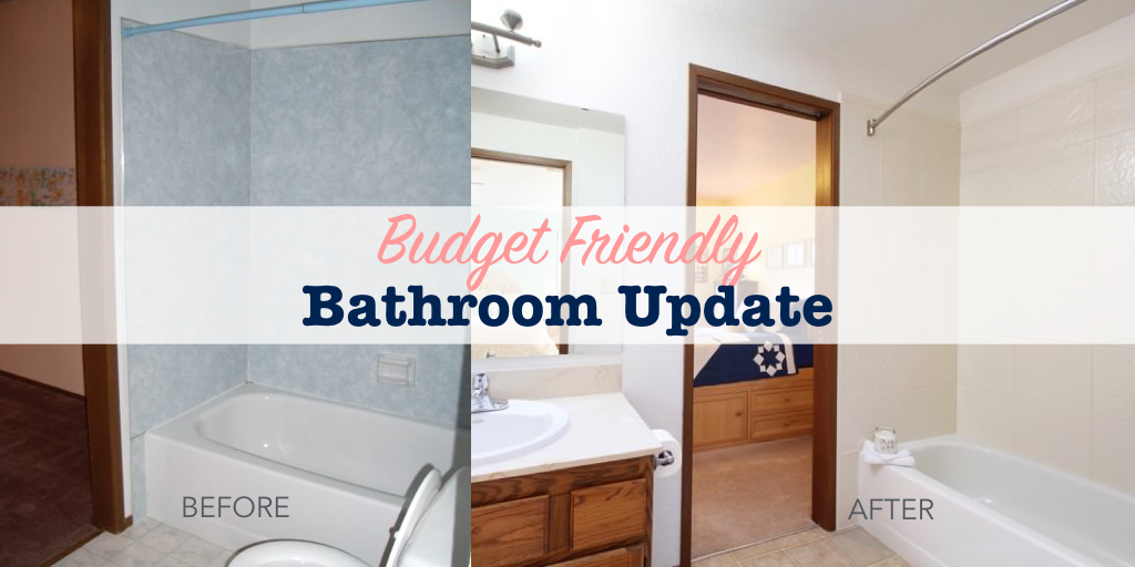 Budget Friendly Bathroom Update Single Girls DIY - How to update your bathroom on a budget