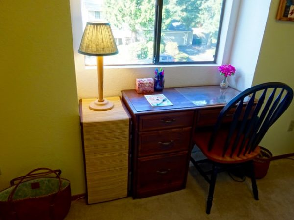 Small desk and craft storage