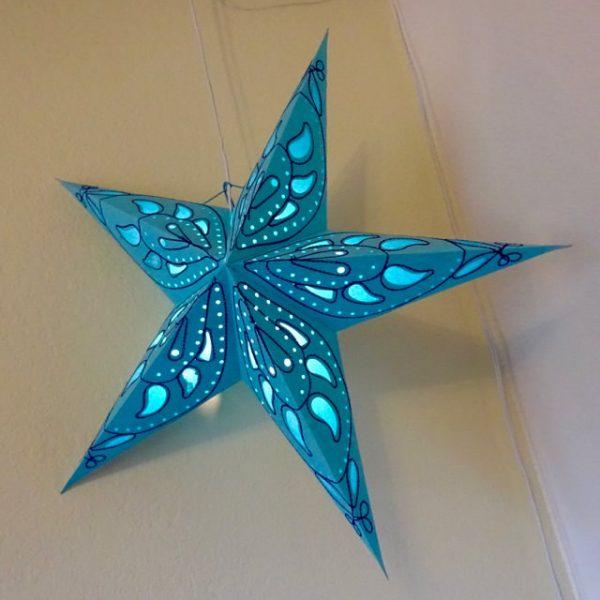Hanging paper star lantern