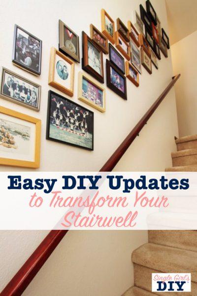 Easy DIY stairway updates