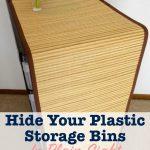 Hide plastic storage drawers