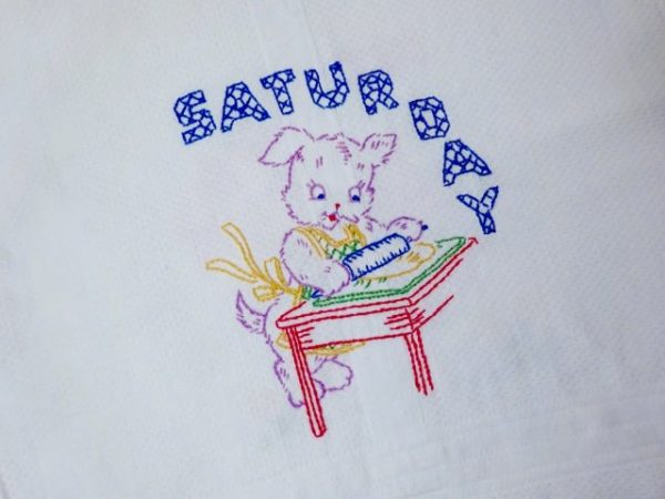 Saturday embroidery pattern