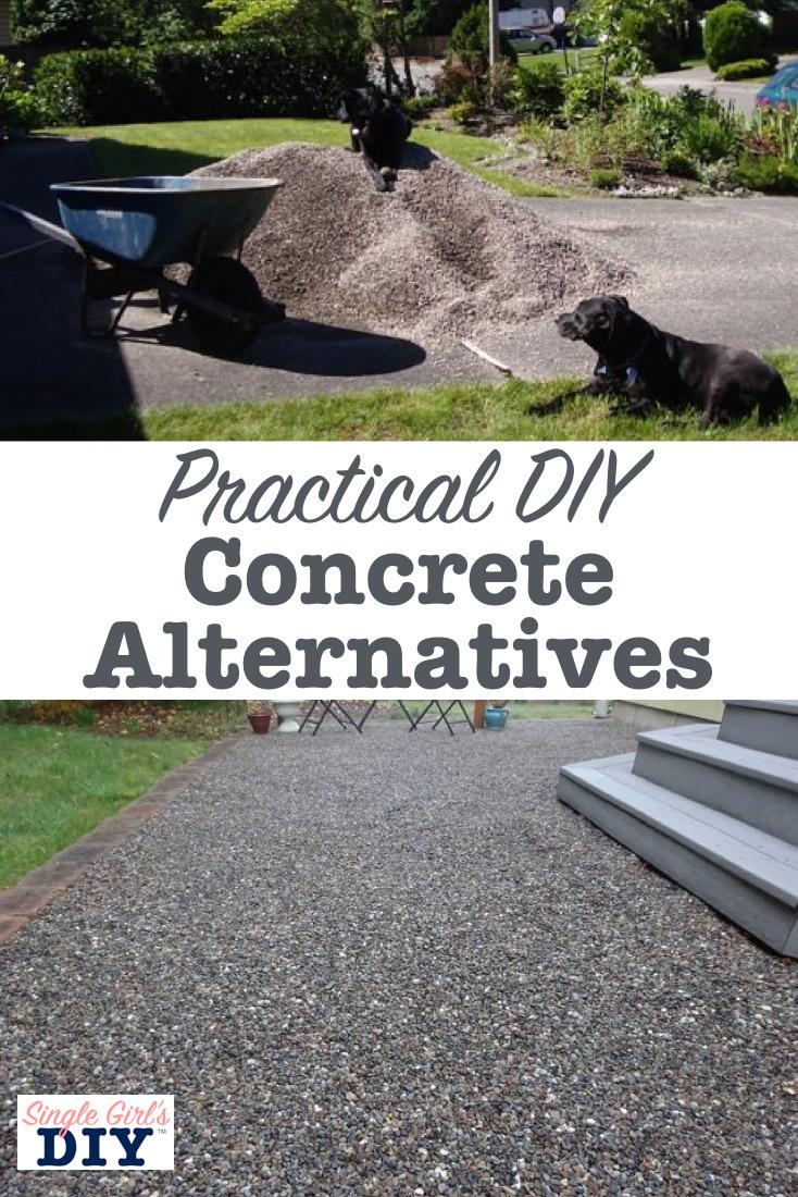 Practical DIY concrete alternatives