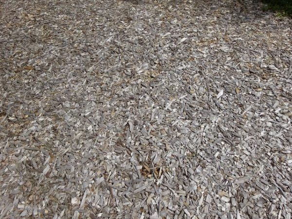 Lawn replacement wood chips
