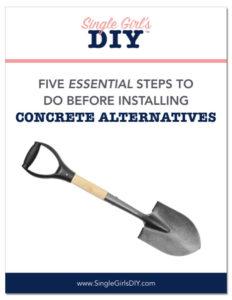Prep for concrete alternatives installation