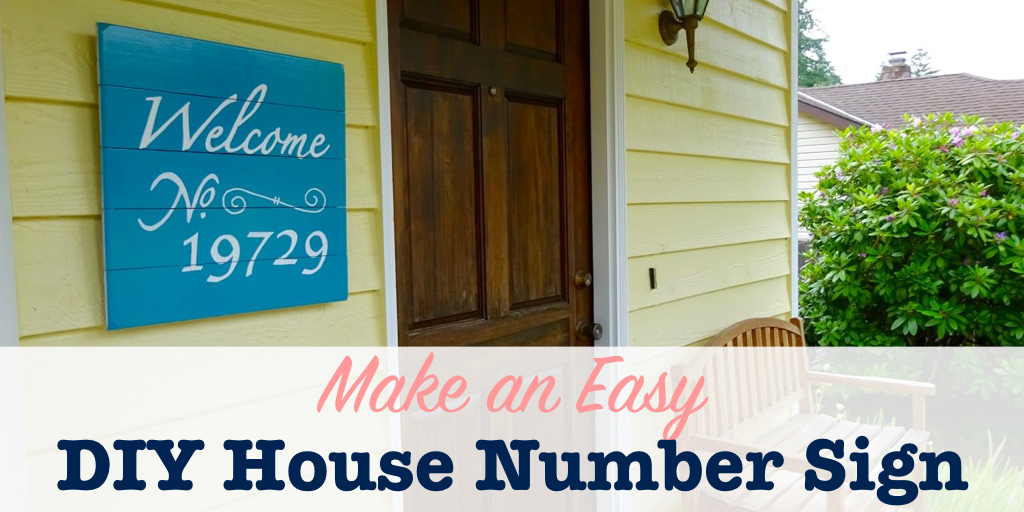 Title Image To Make A DIY House Number Sign
