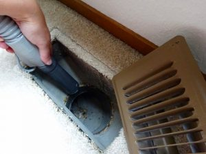 Clean out heater vents