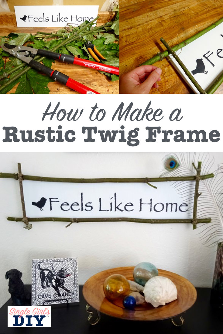 Make A Stick Frame For Any Artwork Single Girls Diy