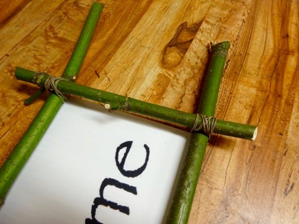 Make a twig picture frame