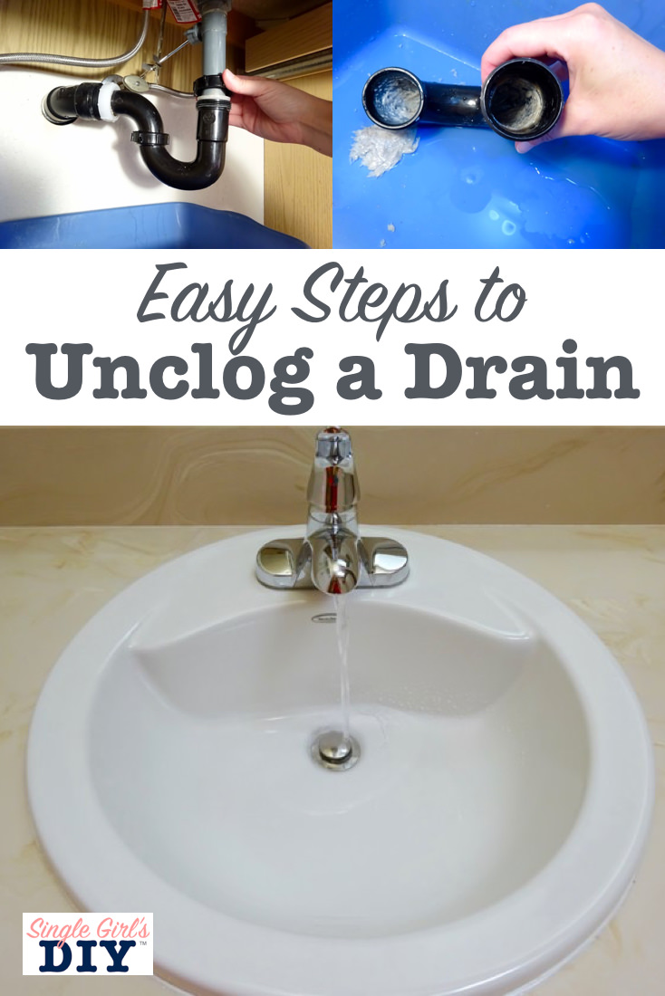 Easy steps to unclog a drain