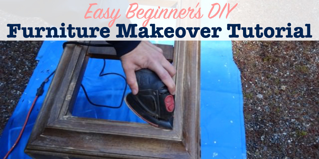 DIY furniture makeover tutorial